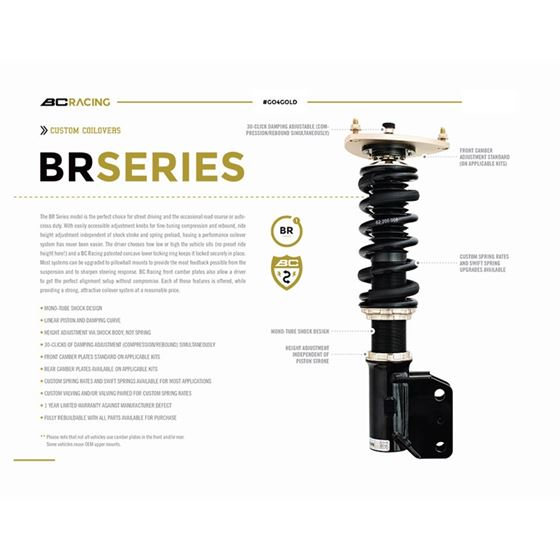 2011-2016 BMW 550i GT BR Series Coilovers (I-16-3